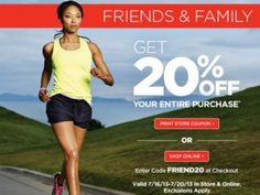 Sports Authority Coupon 20% off! Free Shipping on select items! 4% cash back!