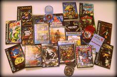 Pêle-mêle de jeux: PSP, Playstation 2, Playstation 3, Megadrive, Saturn