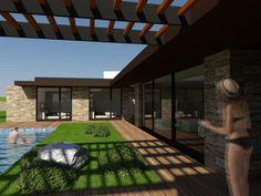 Casa da venda casas modernas por miguel zarcos palma moderno | homify Pergola, Outdoor Structures, Outdoor Decor, Home Decor, Design Ideas, Modern Houses, Palms, Photos, Trendy Tree
