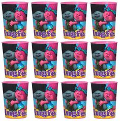 12x Dreamworks Trolls Plastic Reusable Cups 16oz~Birthday Party Favors Supplies~ in Home & Garden, Greeting Cards & Party Supply, Party Supplies   eBay