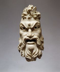 At the Museum | Marble mask of Pan, 1st century A.D. Roman. The Metropolitan Museum of Art, New York.