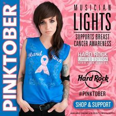It's officially PINKTOBER! Rock out with Hard Rock to support the fight against breast cancer. Visit the Rock Shop for merchandise in support of The Breast Cancer Research Foundation and Caron Keating Foundation, or check out the official PINKTOBER page for pink themed events happening worldwide! Learn more: hardrock.co/1tMXdYn Shop here: hardrock.co/VIteoI