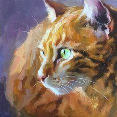 Daily Paintworks - - Original Fine Art for Sale - © Katya Minkina Small Paintings, Animal Paintings, Animal Drawings, Cat Drawing, Painting & Drawing, Watercolor Animals, Watercolor Art, Pet Portraits, Cat Art