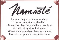 Namaste | All the pieces of me
