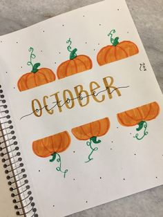 cover page for october's bullet journal!