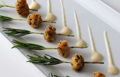 Appetizers on Rosemary Sprigs