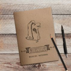 The perfect companion for any bride to be planning her wedding! Introducing the Bridezilla wedding notebook by CandyFaceCreative on Etsy! This hand illustrated notebook makes a great quirky gift!