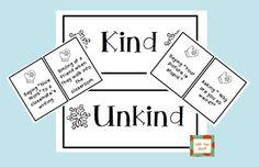 Kind or Unkind Sort Activity FREEBIE!  {firstgradebuddies2.blogspot.com}