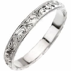 14K White Gold Hand Engraved Wedding Band For Men and Women - Size 5.5 (Other Sizes Available) AURELL http://www.amazon.com/dp/B008D1OU9K/ref=cm_sw_r_pi_dp_PGnMub1MCVBMA