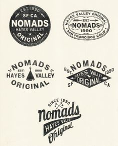 "nomads. there are a lot of these ""vintage badge"" sort of logos cropping up these days."
