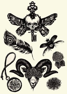supersonic electronic / art - Annita Maslov. I want that goat tattoo for a chest peice.