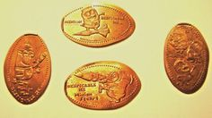 Elongated Pressed Penny  MINIONS  - Set of 4 Coins - UNIVERSAL STUDIOS FL