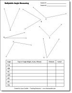 Free Partner Angle Measuring Activity - Students take turns estimating  measuring angles