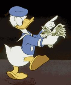 Find GIFs with the latest and newest hashtags! Search, discover and share your favorite Donald Duck GIFs. The best GIFs are on GIPHY. Disney Cartoons, Disney Pixar, Walt Disney, Disney Money, Funny Disney, Vintage Cartoons, Classic Cartoons, Animiertes Gif, Animated Gif