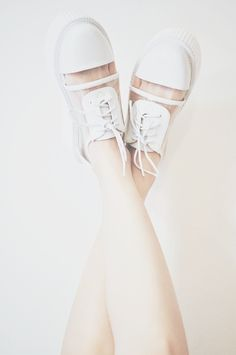 """chickabiddy: """" """" College White Shoes from Moooh 