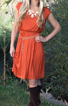 Beth Chain Belted Dress