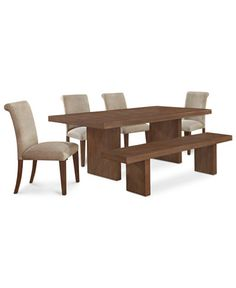 Madina 6-Pc. Dining Set (Dining Table, 4 Chairs and Bench)