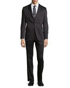 New Hugo Boss Mens Modern Grand Central Gabardine Blazer Suit Sports Coat 40L #HugoBoss #TwoButton