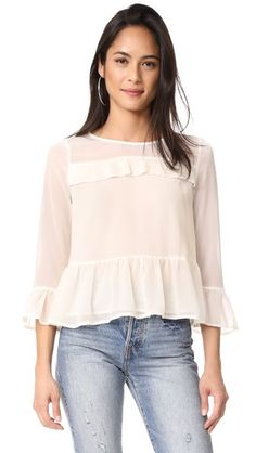 cupcakes and cashmere Katlyn Peplum Blouse on shopbop
