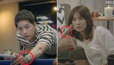 Are Song Joong Ki & Song Hye Gyo wearing the same couple bracelets? Korean Drama Funny, Korean Drama Series, Descendants Of The Sun Wallpaper, Song Joong Ki Birthday, Soon Joong Ki, Decendants Of The Sun, Kdrama, Sun Song, Songsong Couple