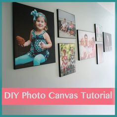 DIY Photo Canvas Tutorial from Designer Trapped in a Lawyer's Body