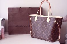 #LouisVuitton Louis Vuitton Neverfull MM Brown Shoulder Bags