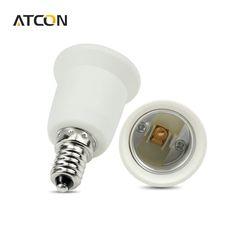 1Pcs  E14 to E27 Fireproof Material lamp Holder Converter Socket  Base type Adapter Conversion light Bulb