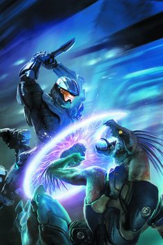 "Halo : Escalation Issue # 11 Cover Art by Anthony Palumbo ""Exposure"" part 1 - Spartans Ray and Thorne set out on a secret mission to uncover the origin of a monstrous new bioweapon … but is it too. Halo Game, Halo 3, Video Game Art, Video Games, Halo Armor, Halo Spartan, Halo Master Chief, Super Anime, Halo Reach"