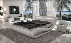 Modern White Bed VG77   Modern Bedroom Furniture