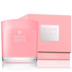 Molton Brown USA   Delicious Rhubarb & Rose Three Wick Candle