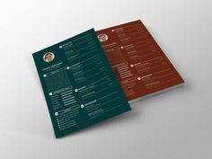 Simple CV Template PSD