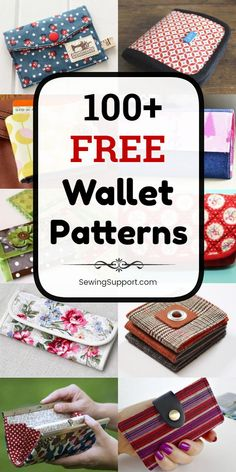 Free Wallet Patterns Over 100 free fabric wallet patterns to sew. Many simple and easy designs including clutch, zipper, keychain, accordion, and card wallets. Find the perfect wallet pattern for you! Wallet Sewing Pattern, Sewing Patterns Free, Free Sewing, Diy Wallet Pattern Free, Diy Bags Patterns, Pouch Pattern, Pattern Fabric, Sew Wallet, Fabric Wallet