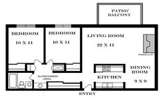 Small House Floor Plans 2 Bedrooms | 900