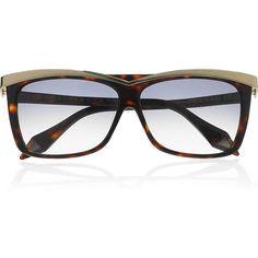 Victoria Beckham D-frame acetate sunglasses ($215) ❤ liked on Polyvore