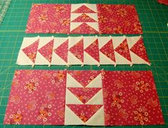 Great flying geese project with instructions on Bloomin Workshop blog.  She did a quilt along project two summers ago but I missed that.  I am thinking this would be an excellent summer project for me this year.  Time to go stash diving.