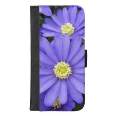 Purple Anemones Floral iPhone 8/7 Plus Wallet Case - floral style flower flowers stylish diy personalize