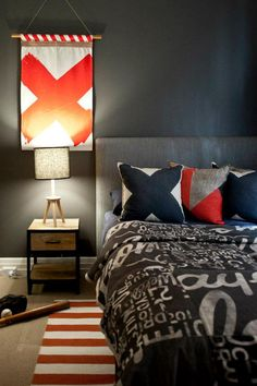 youthful masculine bedroom decor