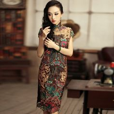 ☆ Old Shanghai style Chinese Style, Traditional Chinese, Traditional Wedding, Chinese Gown, International Clothing, Cheongsam Dress, Chinese Clothing, Japanese Outfits, Classic Outfits