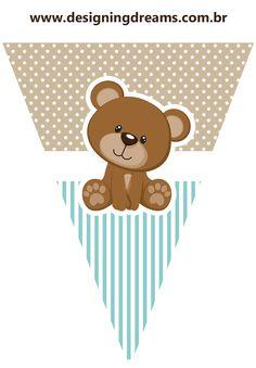 Teddy Bear for Boys: Free Printable Mini Kit. - Oh My Baby! Teddy Bear Baby Shower, Baby Shower Niño, Boy Baby Shower Themes, Baby Boys, Baby Shawer, Imprimibles Gratis Baby Shower, Teddy Bear Birthday, Baby Boy Scrapbook, Bear Theme