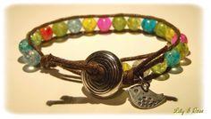 """Bracelet wrap """"douceur multicolore"""" un rang : Bracelet par lily-et-rose"""