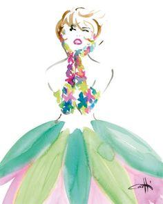 I love the art of Michel Canetti.  Michelcanetti.com This is OLIVIA.  Beautiful, elegant and very feminine.