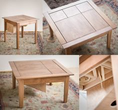 Coffee table with built-in percussion