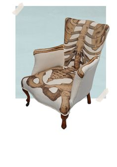 Sam Edkins Anatomically Correct chair, top view