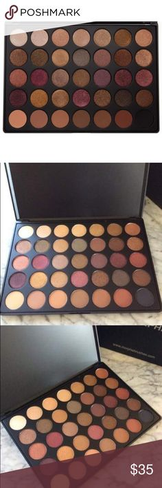 Morphe 35F Fall into Frost palette Brand new in box. Never swatch and authentic. Featuring 7 highly pigmented matte shades and 28 rich metallic colors, this is the palette your will reach for to wake up your looks with a touch of eye-catching shimmer. The 7 matte colors offer necessary neutrals from flesh toned to black that ensure an effortless, well-blended look every time. Makeup Eyeshadow