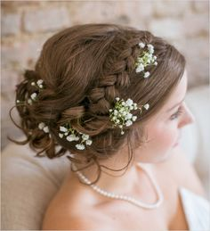 25 Braided Wedding Hair Ideas To Love - The Wedding Chicks Wedding Hairstyles For Long Hair, Wedding Hair And Makeup, Wedding Beauty, Bride Hairstyles, Pretty Hairstyles, Wedding Updo, Casual Wedding, Bridal Hair Inspiration, Bridesmaid Hair