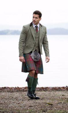 VISIT FOR MORE Try Designing Your Own tweed jacket and waistcoat to complete your Kilt outfit. The post Try Designing Your Own tweed jacket and waistcoat to complete your Kilt outfit. Scottish Dress, Scottish Clothing, Scottish Man, Scottish Kilts, Scottish Fashion, Kilt Wedding, Kilt Shop, Scotland Kilt, Kilt Jackets
