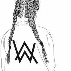 Obsessed with the a.w logo ❤alan walker cantantes de electronica, musica electronica, canciones Allen Walker, Walker Art, Girl Drawing Sketches, Cool Drawings, Drawing Ideas, Diy Photo, Walker Logo, Tumblr Outline, Cool Coloring Pages