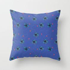 Purple flowers - pattern Throw Pillow by Kamikire - $20.00
