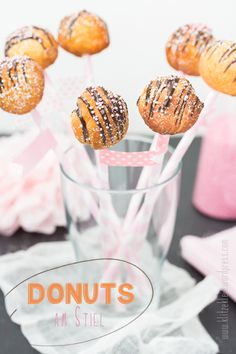 donut balls on a stick. ♥
