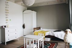 A Lovely Journey, House Tours, Modern, Bed, Furniture, Home Decor, Bright Nursery, Small Dresser, Wood Facade